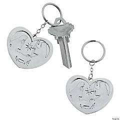 Heart-Shaped Nativity Key Chains