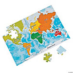 Large World Map Puzzle