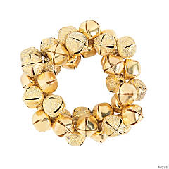 Goldtone Jingle Bell Stretchy Bracelet Craft Kit