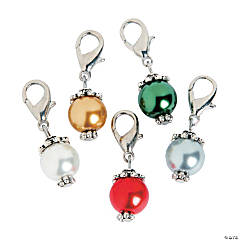 Silvertone Pearl Dangles - 20mm