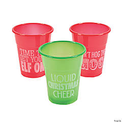 Humorous Christmas Disposable Cups