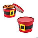 Santa Cookie Containers with Lids