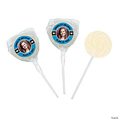 Graduation Custom Photo Swirl Lollipops