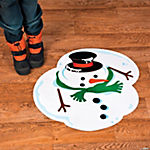 Melted Snowman Floor Decal