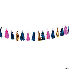 Pink & Navy Tassel Decoration