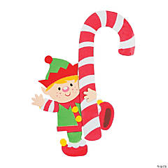Elf Candy Cane Doorknob Hanger Craft Kit