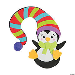 Penguin with Hat Doorknob Hanger Craft Kit