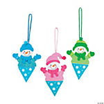 Snow Cone Snowman Ornament Craft Kit