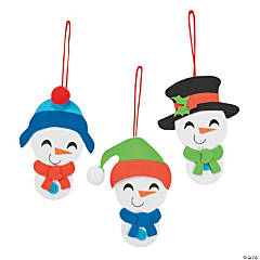 Big Head Snowman Ornament Craft Kit