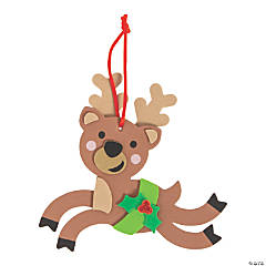 Foam Prancing Reindeer Ornament Craft Kit