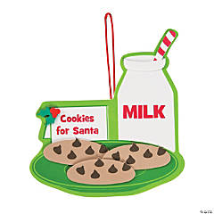 Milk & Cookies for Santa Ornament Craft Kit