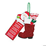 Santa Boots Ornament with Card Craft Kit