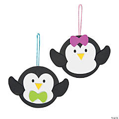 Penguin with Bow Ornament Craft Kit