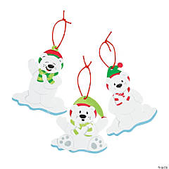 Christmas Polar Bear Ornament Craft Kit