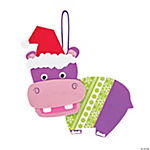 Christmas Hippo Ornament Craft Kit