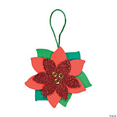 Foam Poinsettia Ornament Craft Kit