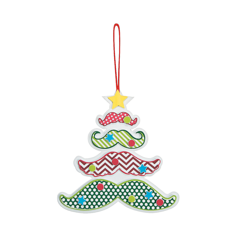 Mustache Christmas Tree Ornament Craft Kit, Ornament ...
