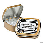 Black, White & Gold Personalized Mint Tins
