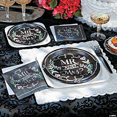 Mr. & Mrs. Chalk Party Supplies