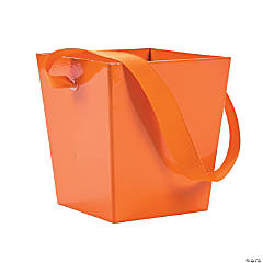 Pumpkin Buckets with Ribbon Handle