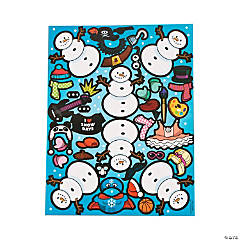 Snowman Costume Sticker Sheets