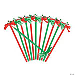 Jingle Bell Pencils with Bow Topper