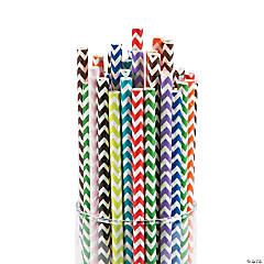 Mega Chevron Straw Assortment