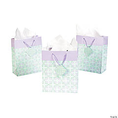 Medium Lilac & Mint Green Gift Bags