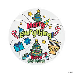 Paper Color Your Own Merry Everything Wheels