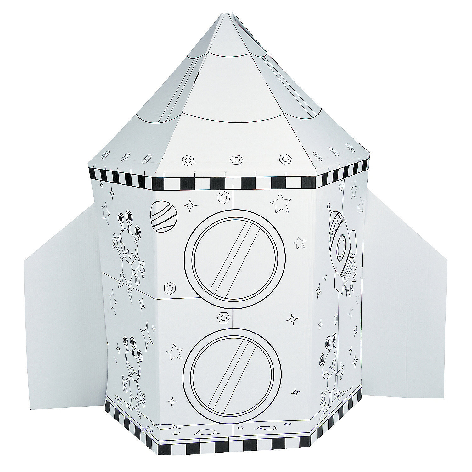 Color Your Own Rocket Ship, Coloring Crafts, Crafts for ... - photo#10