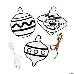 Color Your Own Fuzzy Ornament Garland