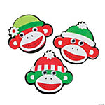 Christmas Sock Monkey Magnet Craft Kit