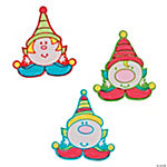 Color Your Own Elves Fuzzy Christmas Magnets
