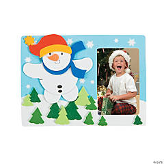 Flying Snowman Picture Frame Magnet Christmas Craft Kit