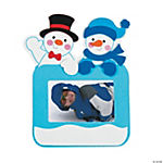 Happy Snowmen Picture Frame Magnet Christmas Craft Kit