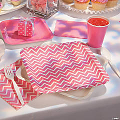 Pink Chevron Party Supplies