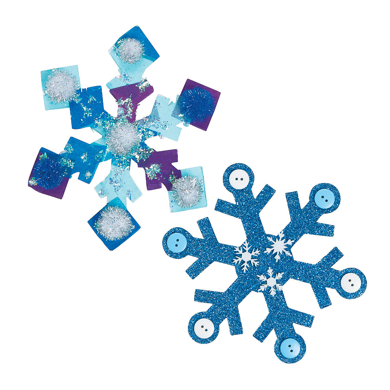 Snowflake adhesive collage boards craft tools for Sticky boards for crafts