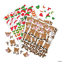 Reindeer Self-Adhesive Shapes