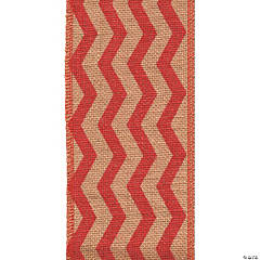 Red Chevron Burlap Ribbon