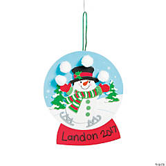 Foam Christmas Snow Globe Craft Kit