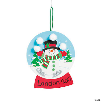 Christmas snow globe craft kit for Snow globe craft for kids