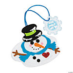 Melted Snowman with Card Christmas Ornament Craft Kit