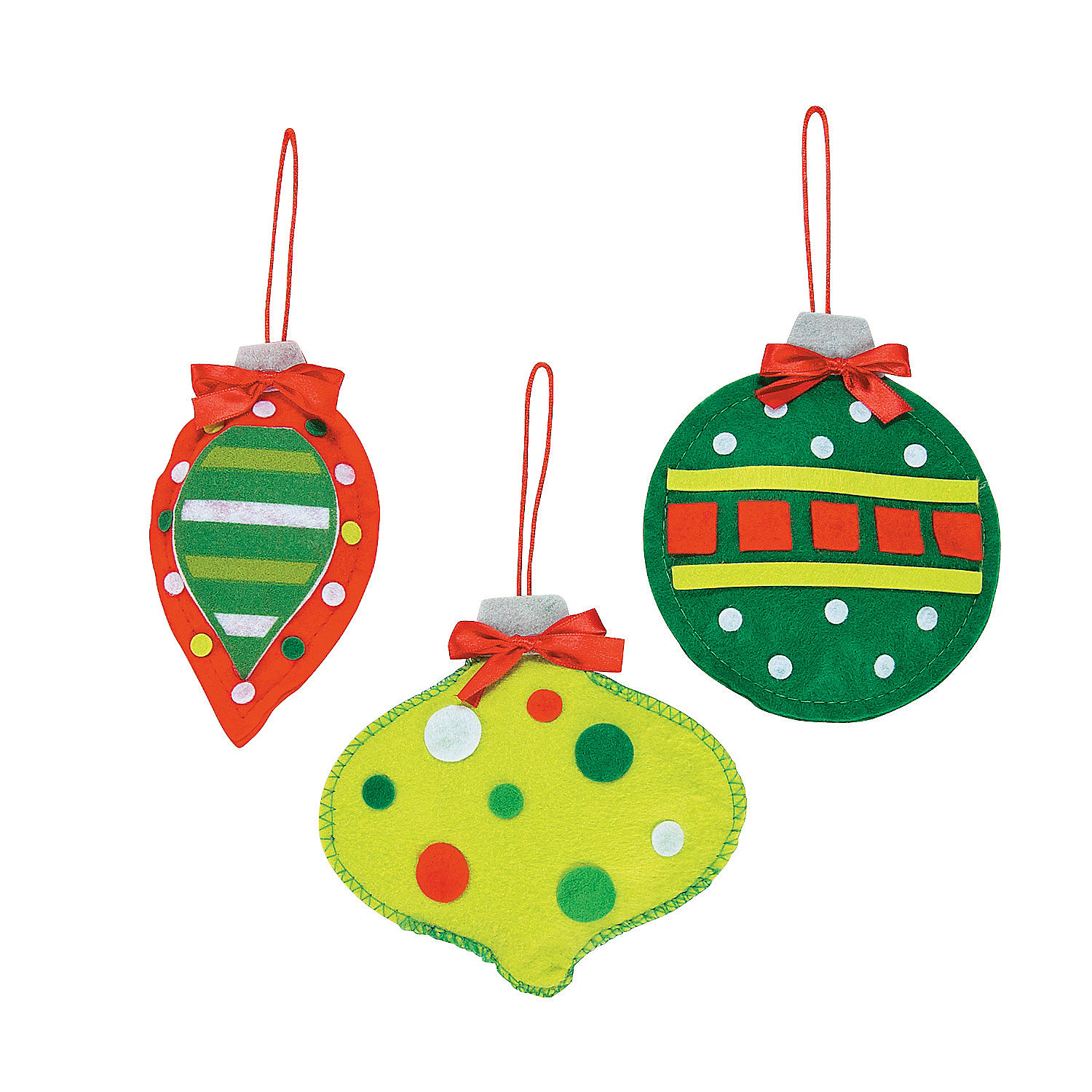 Soft christmas ornament craft kit ornament crafts adult for Craft kits for adults to make