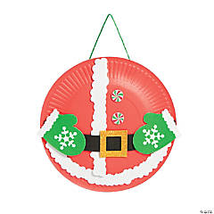 Paper Plate Santa's Belly Craft Kit