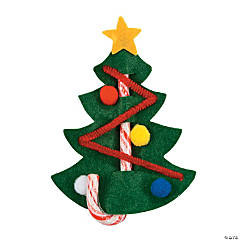 Candy Cane Christmas Tree Craft Kit