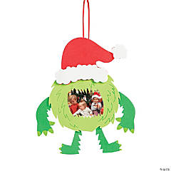Green Merry Monster Picture Frame Ornament Craft Kit