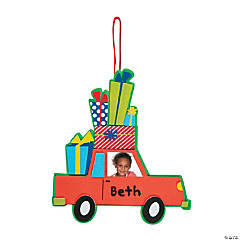 Car with Presents Picture Frame Ornament Craft Kit