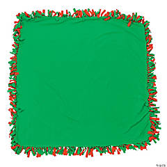 Red & Green Fleece Tied Throw Craft Kit
