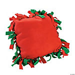 Red & Green Fleece Tied Pillow Craft Kit