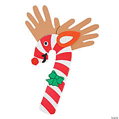 Candy Cane Reindeer Handprint Craft Kit